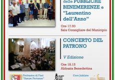 10 agosto: cerimonia di consegna Pubbliche Benemerenze e Concerto del Patrono