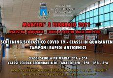 Covid-19, operazione Rientro a Scuola in sicurezza: screening gratuito con tamponi rapidi per classi in quarantena