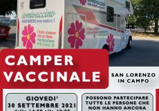 Camper vaccinale a San Lorenzo in Campo