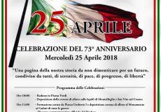 """25 Aprile, Festa della Liberazione con la Banda Cittadina del Gruppo Musicale """"Mario Tiberini"""""""