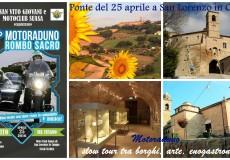 """Ponte del 25 aprile a San Lorenzo in Campo: motoraduno a San Vito, """"slow"""" tour tra borghi, arte, enogastronomia"""
