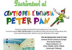 Centro per l'infanzia Peter Pan: aperte le iscrizioni