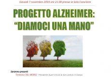 """Progetto Alzheimer: """"Diamoci una mano"""""""