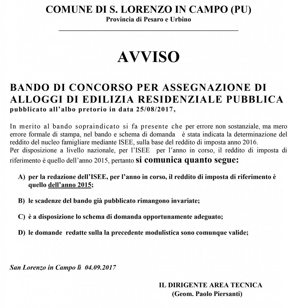 BANDO CASE POPOLARI ERP - 2017_AVVISO di CHIARIMENTO