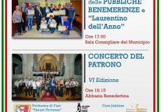 10 Agosto – Patrono: Cerimonia di consegna Pubbliche Benemerenze e Concerto del Patrono