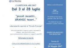 Campi solari 2017: tutte le informazioni. Presentazione il 24 maggio