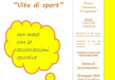"""""""Vite di Sport"""", Campi solari e Colonia estiva: tutte le informazioni. Serata di presentazione: 18 maggio"""