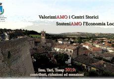 """""""valorizziAMO i centri storici, sosteniAMO l'economia locale"""": contributi, riduzioni, esenzioni"""