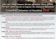 Imu, Tari, Tosap, restauro facciate abitazioni, nuove attività, No Slot, nuove nascite: contributi, riduzioni, esenzioni anno 2020