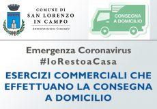 Emergenza Coronavirus: elenco commercianti che effettuano servizio di 'Consegna a domicilio'