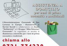 Emergenza Coronavirus, assistenza a domicilio per beni di prima necessità e medicinali