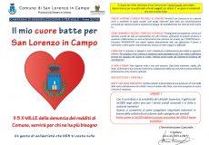 Il mio cuore batte perSan Lorenzo in Campo, il 5 X MILLE della denuncia dei redditi al Comune servirà per chi ne ha più bisogno