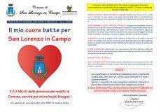 Il mio cuore batte per San Lorenzo in Campo: il 5 per Mille al Comune servirà per chi ne ha più bisogno