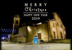 Gli auguri di Buon Natale e Felice 2019 dall'Amministrazione comunale e dal Sindaco Davide Dellonti