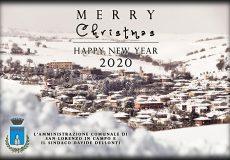 Gli auguri del Sindaco e dell'Amministrazione comunale di Buone Festività Natalizie ed un Felice 2020