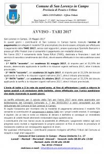 Microsoft Word - Comunicato Avviso TARI 2017