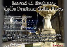 La fontana della Pieve torna a splendere, sabato l'inaugurazione