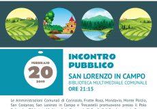Incontro pubblico 'Valorizzazione di borghi e percorsi lungo la valle del fiume Cesano'