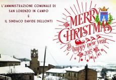 Il sindaco e l'amministrazione comunale augurano buon Natale e felice 2015