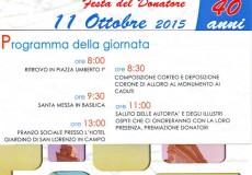 Avis, Festa del Donatore. 1975-2015: 40 anni