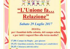 L'unione fa… relazione: festa per i bambini della colonia e del campo solare