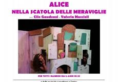 """Andar per Fiabe, a teatro """"Alice nella scatola delle meraviglie"""""""