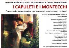 """A teatro """"I Capuleti e i Montecchi"""": concerto in forma scenica per strumenti, canto e voci recitanti"""