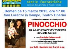 Andar per Fiabe, al teatro Tiberini lo spettacolo per bambini Pinocchio