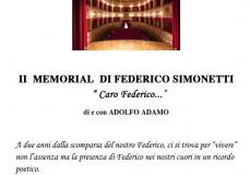 """Caro Federico…"", a teatro il memorial Federico Simonetti"