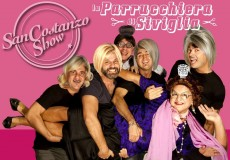 A teatro i comici del San Costanzo Show con La Parrucchiera di Siviglia