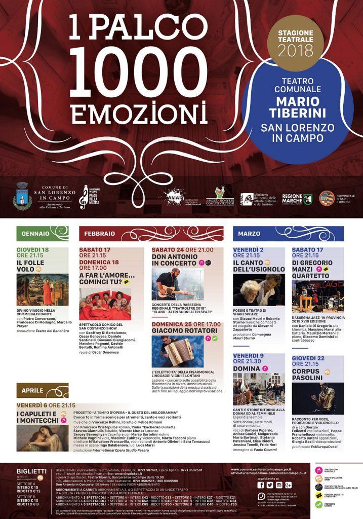 san lorenzo-stagione teatrale 2018