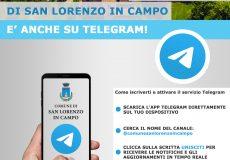 Nuovo canale Telegram del Comune di San Lorenzo in Campo