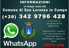 Un'Amministrazione comunale sempre più vicina ai cittadini, San Lorenzo in Campo anche su WhatsApp